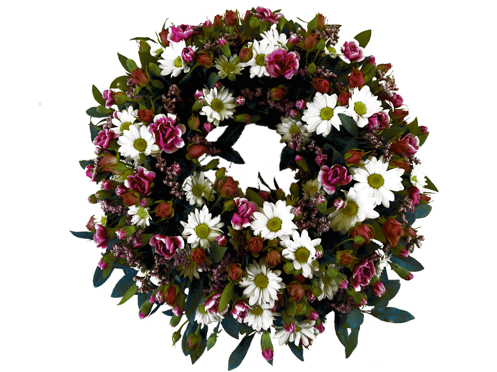 Funeral Directors Brisbane Wreath Of Carnations And Chrysanthemums