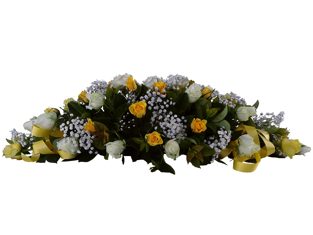 Funeral Directors Brisbane Yellow And White Roses Traditional